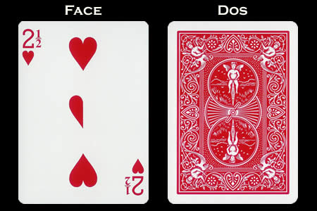 2 and 1/2 of Hearts BICYCLE Card