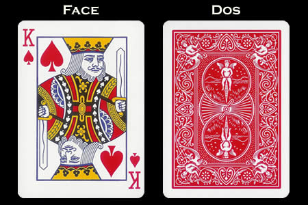Reverse color Card King of Spades