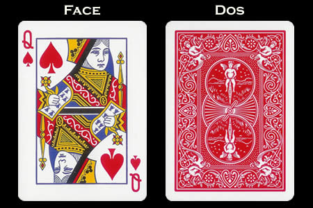 Reverse color Card Queen of Spades