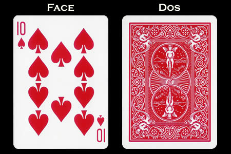 Reverse color Card 10 of Spades