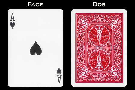 Reverse color Card Ace of Hearts