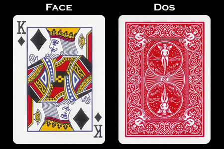 Reverse color Card King of Diamonds