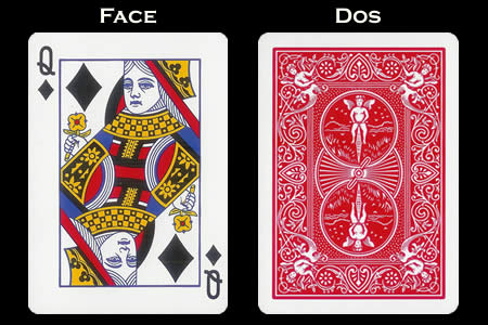Reverse color Card Queen of Diamonds