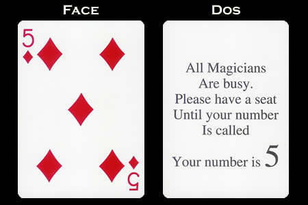 Accomplice 5 of Diamonds BICYCLE Card