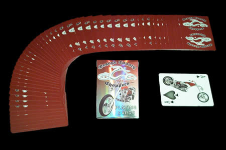 Jeu Bicycle Orange County Choppers Rouge