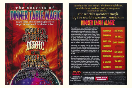 DVD The Secrets of Dinner table magic