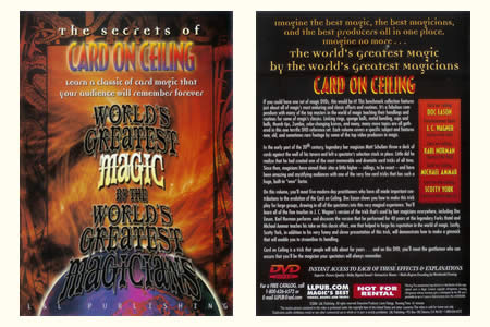 DVD The Secrets of Card on ceiling