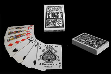 Black Fan Back TALLY-HO Deck